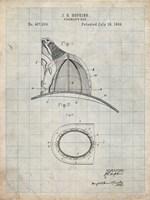 Fireman's Hat Patent - Antique Grid Parchment Fine Art Print