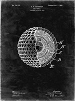 Golf Ball Patent - Black Grunge Fine Art Print
