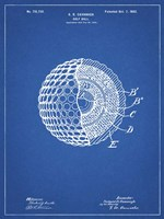 Golf Ball Patent - Blueprint Fine Art Print
