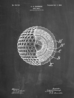 Golf Ball Patent - Chalkboard Fine Art Print