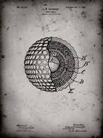 Golf Ball Patent - Faded Grey Fine Art Print