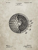 Golf Ball Patent - Sandstone Fine Art Print