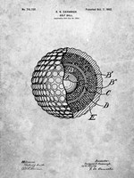 Golf Ball Patent - Slate Fine Art Print