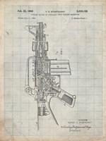 Firearm With Auxiliary Bolt Closure Mechanism Patent - Antique Grid Parchment Fine Art Print