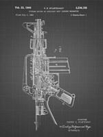 Firearm With Auxiliary Bolt Closure Mechanism Patent - Black Grid Fine Art Print