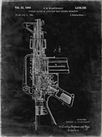 Firearm With Auxiliary Bolt Closure Mechanism Patent - Black Grunge Fine Art Print