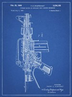 Firearm With Auxiliary Bolt Closure Mechanism Patent - Blueprint Fine Art Print