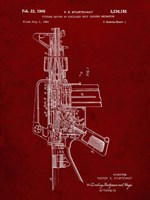 Firearm With Auxiliary Bolt Closure Mechanism Patent - Burgundy Fine Art Print