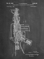 Firearm With Auxiliary Bolt Closure Mechanism Patent - Chalkboard Fine Art Print