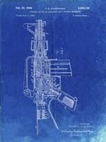 Firearm With Auxiliary Bolt Closure Mechanism Patent - Faded Blueprint Fine Art Print