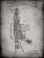 Firearm With Auxiliary Bolt Closure Mechanism Patent - Faded Grey Fine Art Print