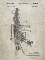 Firearm With Auxiliary Bolt Closure Mechanism Patent - Sandstone Fine Art Print