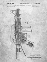 Firearm With Auxiliary Bolt Closure Mechanism Patent - Slate Fine Art Print