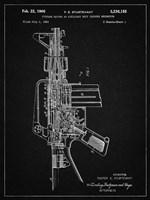 Firearm With Auxiliary Bolt Closure Mechanism Patent - Vintage Black Fine Art Print