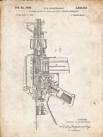 Firearm With Auxiliary Bolt Closure Mechanism Patent - Vintage Parchment Fine Art Print