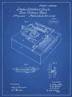 Type Writing Machine Patent - Blueprint Fine Art Print