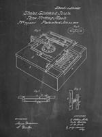 Type Writing Machine Patent - Chalkboard Fine Art Print