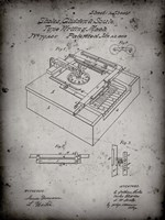 Type Writing Machine Patent - Faded Grey Fine Art Print