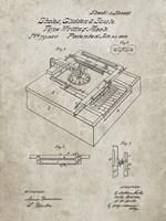 Type Writing Machine Patent - Sandstone Fine Art Print
