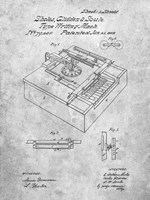 Type Writing Machine Patent - Slate Fine Art Print