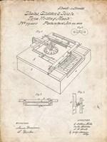 Type Writing Machine Patent - Vintage Parchment Fine Art Print