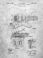 Tremolo Device for Stringed Instruments Patent - Slate Fine Art Print