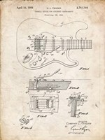 Tremolo Device for Stringed Instruments Patent - Vintage Parchment Fine Art Print