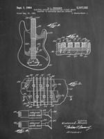 Electric Guitar Patent - Chalkboard Fine Art Print