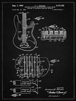 Electric Guitar Patent - Vintage Black Fine Art Print
