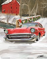 57 Chevy Christmas Fine Art Print
