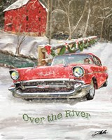 Chevy Christmas Over the River Fine Art Print
