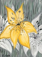 Tiger Lily in Yellow Fine Art Print