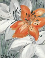 Tiger Lily in Orange Fine Art Print