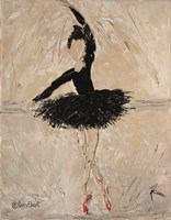Ballerina with Scarlet Pointe Shoes Fine Art Print