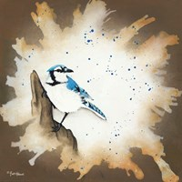 Weathered Friends - Blue Jay Fine Art Print