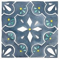 Garden Getaway Tile II Blue Framed Print