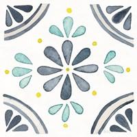 Garden Getaway Tile I White Framed Print