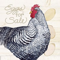 Life on the Farm Chicken I Fine Art Print