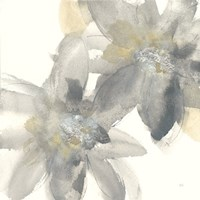 Gray and Silver Flowers II Fine Art Print