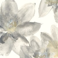 Gray and Silver Flowers I Fine Art Print