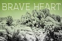 Ombre Adventure V Brave Heart Framed Print