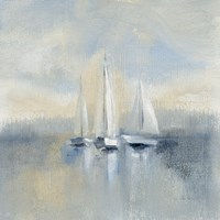 Morning Sail I Blue Fine Art Print