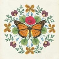 Butterfly Mandala I Framed Print