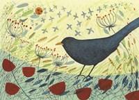 Spring Blackbird 1 Fine Art Print