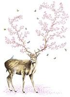 Cherry Blossom Deer Fine Art Print