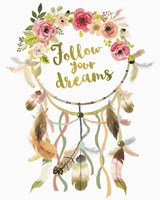 Dreamcatcher Follow Your Dreams Fine Art Print
