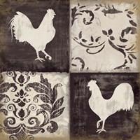 Rooster Silhouette II Fine Art Print