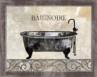 Bath Silhouette I Fine Art Print