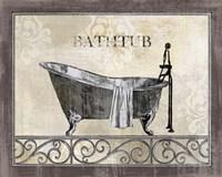 Bath Silhouette II Fine Art Print