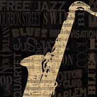Jazz Improv II Framed Print